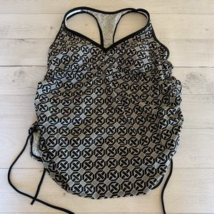 Liz Lange Ruched side Maternity Tankini Top size L